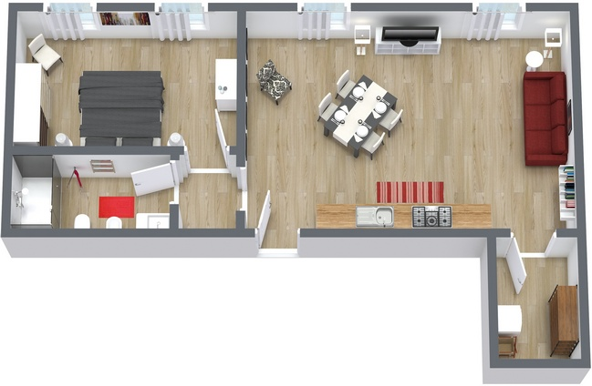 Planimetrics Apartment N.153