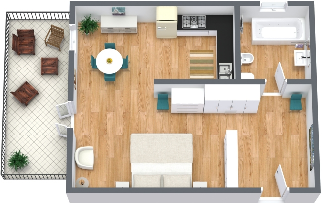 Planimetrics Apartment N.207