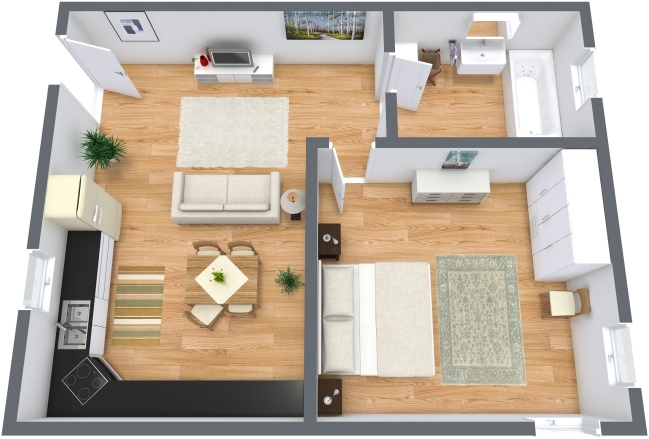 Venice apartment for 2 people with wifi for Apartment wifi plans