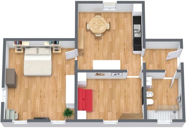 Planimetrics Apartment N.232