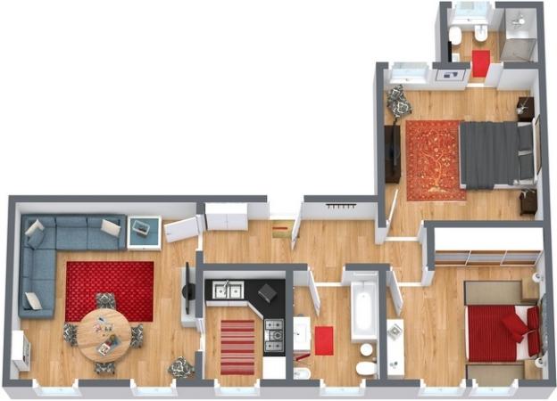 Planimetrics Apartment N.250