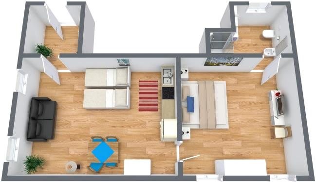 Planimetrics Apartment N.298