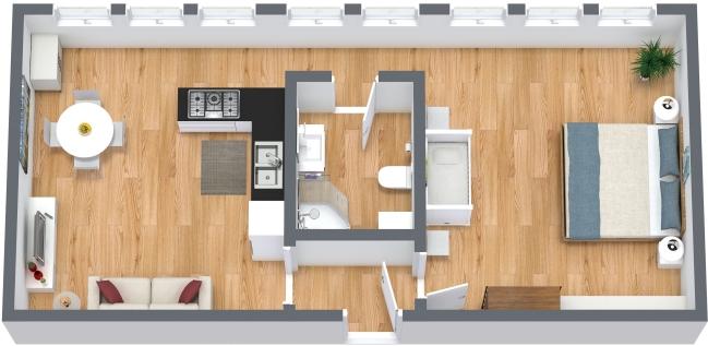 Planimetrics Apartment N.329