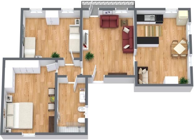 Planimetrics Apartment N.334