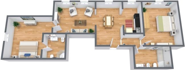 Planimetrics Apartment N.335