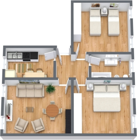 Planimetrics Apartment N.350