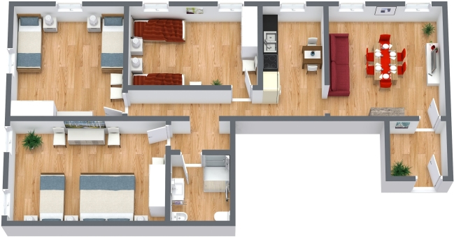 Planimetrics Apartment N.372