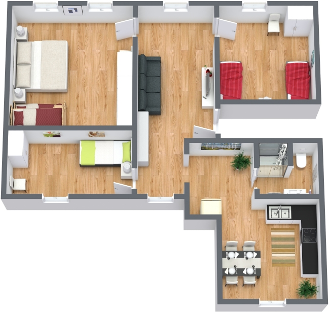 Planimetrics Apartment N.377