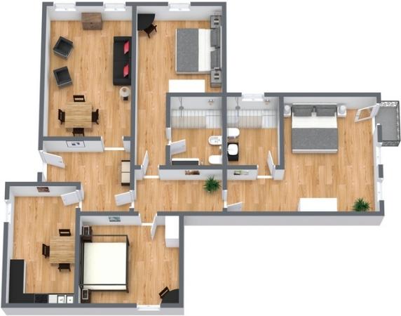 Planimetrics Apartment N.100