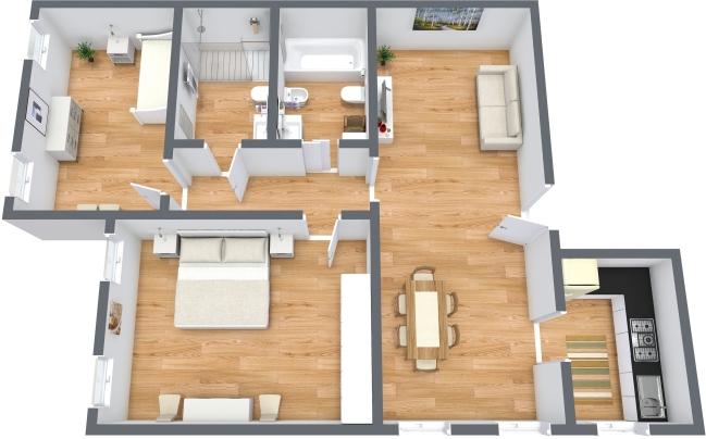 Planimetrics Apartment N.158
