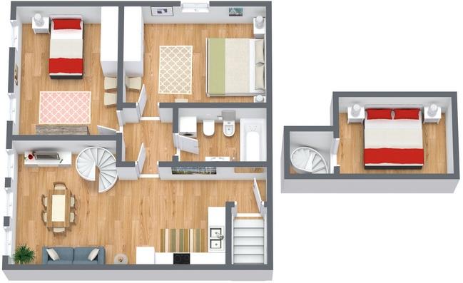 Planimetrics Apartment N.165