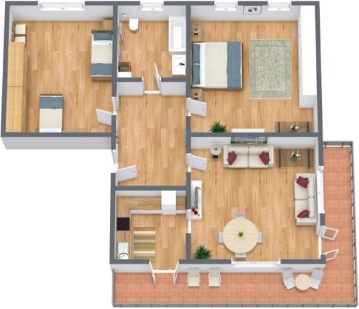 Planimetrics Apartment N.177