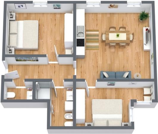 Planimetrics Apartment N.193