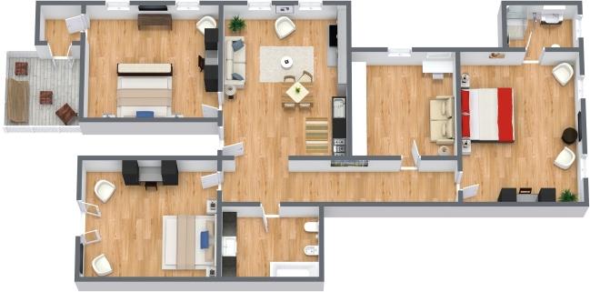 Planimetrics Apartment N.198