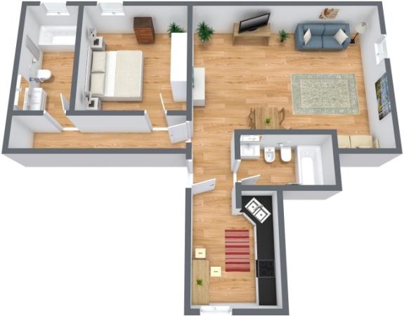 Planimetrics Apartment N.211
