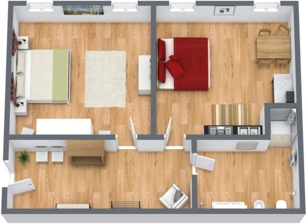 Planimetrics Apartment N.214