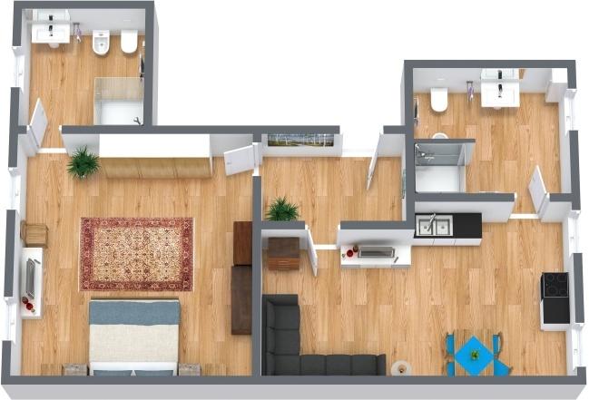 Planimetrics Apartment N.218