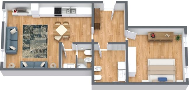 Planimetrics Apartment N.222