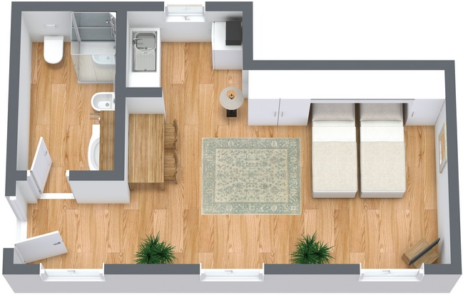 Planimetrics Apartment N.268