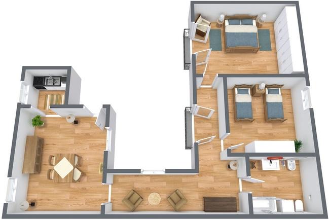 Planimetrics Apartment N.269