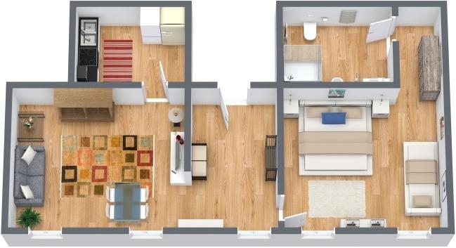 Planimetrics Apartment N.284
