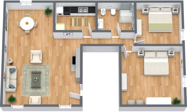 Planimetrics Apartment N.287