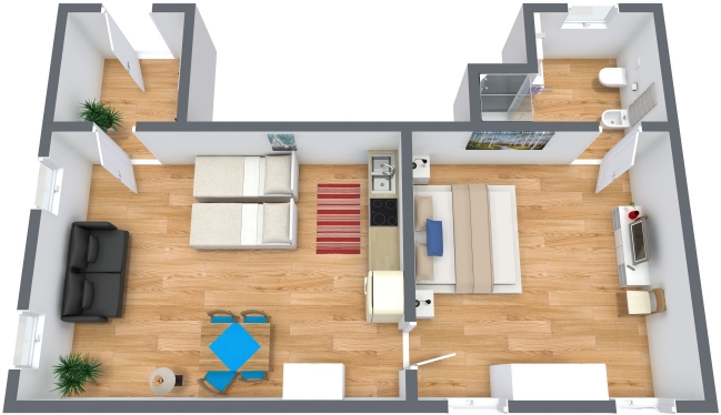 Planimetrics Apartment N.215