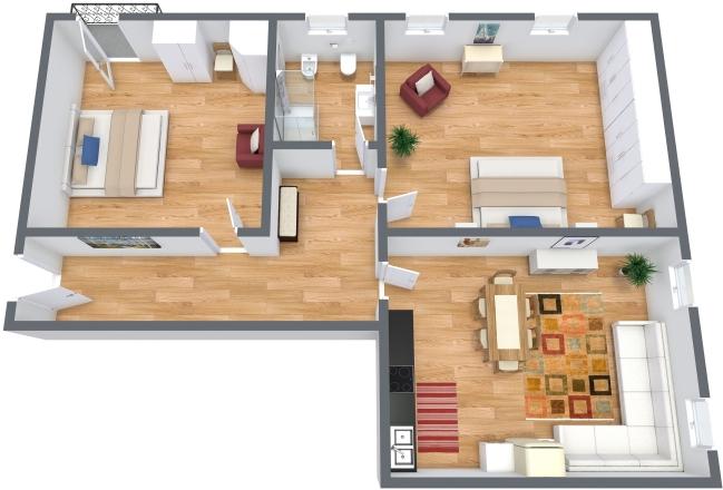 Planimetrics Apartment N.300