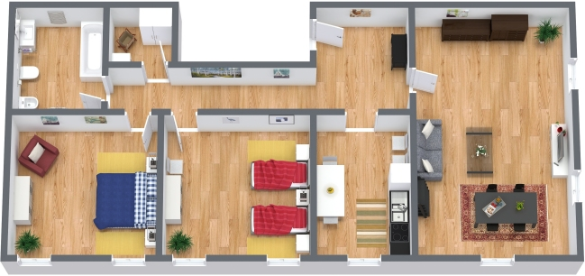 Planimetrics Apartment N.317