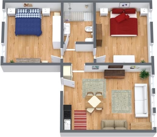 Planimetrics Apartment N.327