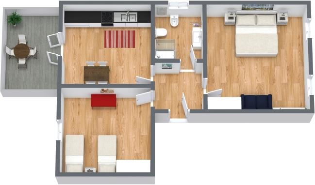 Planimetrics Apartment N.341
