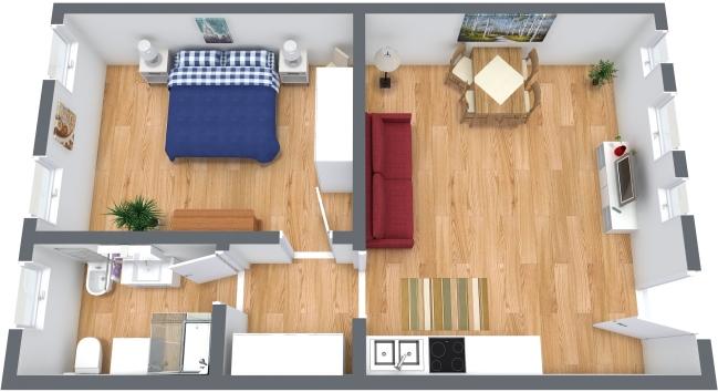 Planimetrics Apartment N.355