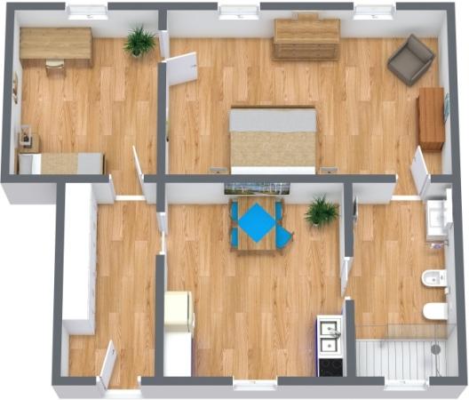 Planimetrics Apartment N.360