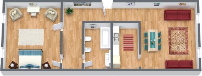 Planimetrics Apartment N.361