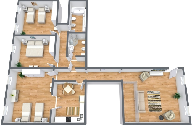 Planimetrics Apartment N.363