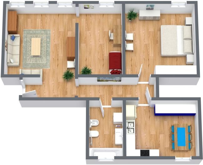 Planimetrics Apartment N.366