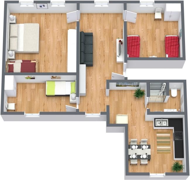 Planimetrics Apartment N.378