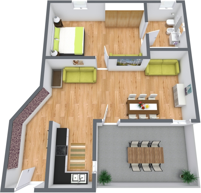 Planimetrics Apartment N.383