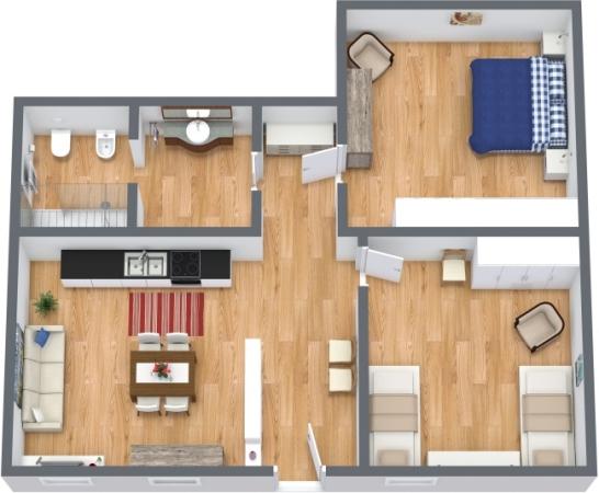 Planimetrics Apartment N.388