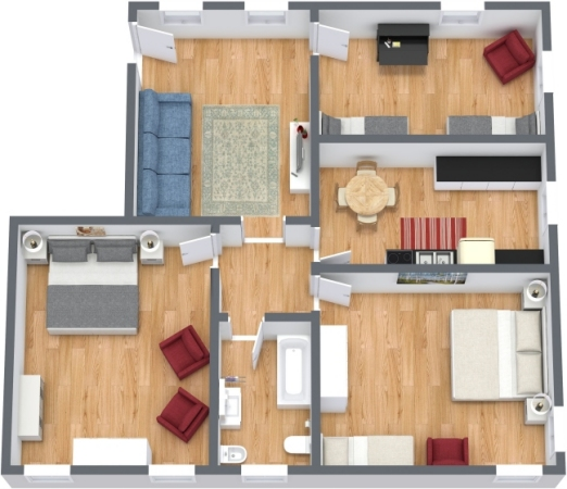 Planimetrics Apartment N.390