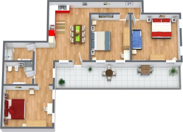 Planimetrics Apartment N.398