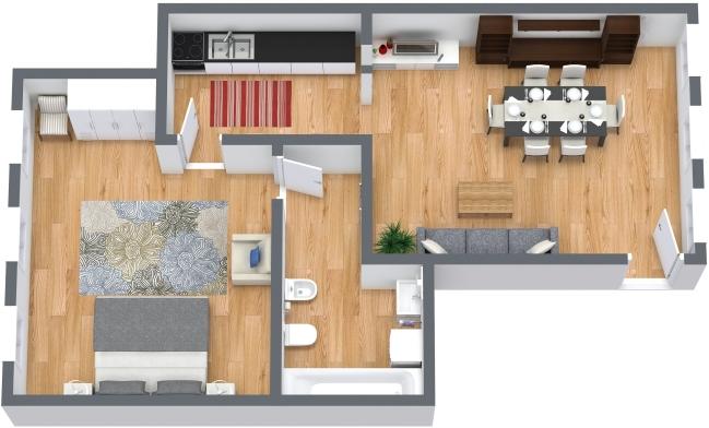 Planimetrics Apartment N.404