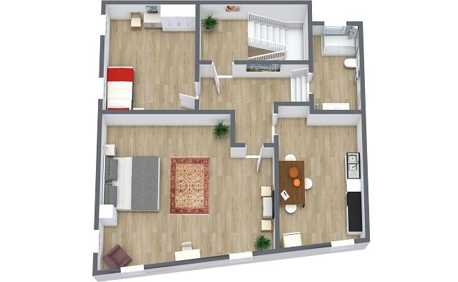 Planimetrics Apartment N.410