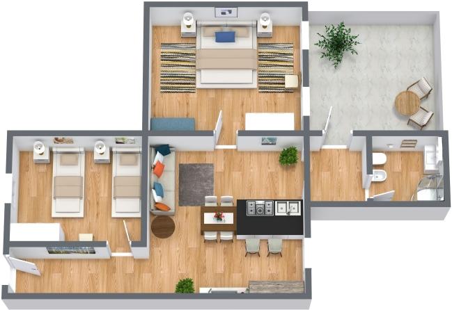 Planimetrics Apartment N.411