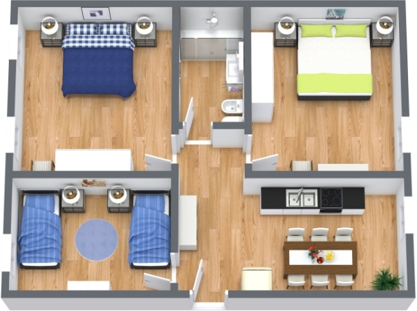 Planimetrics Apartment N.412