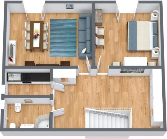 Planimetrics Apartment N.414