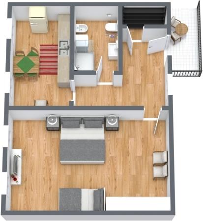 Planimetrics Apartment N.425
