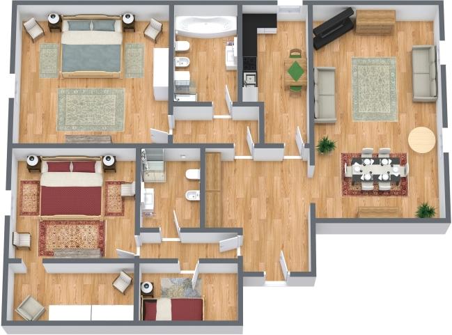Planimetrics Apartment N.429