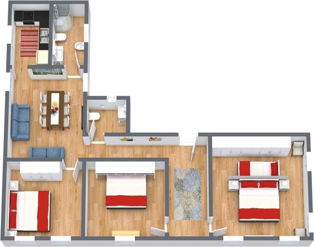 Planimetrics Apartment N.436