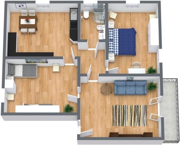 Planimetrics Apartment N.438